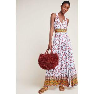 Anthropologie Auden Mixed Print Floral Maxi Dress